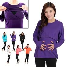Long Sleeve Leisure Wear Breast Feeding Nursing Maternity Clothes Pregnant Women