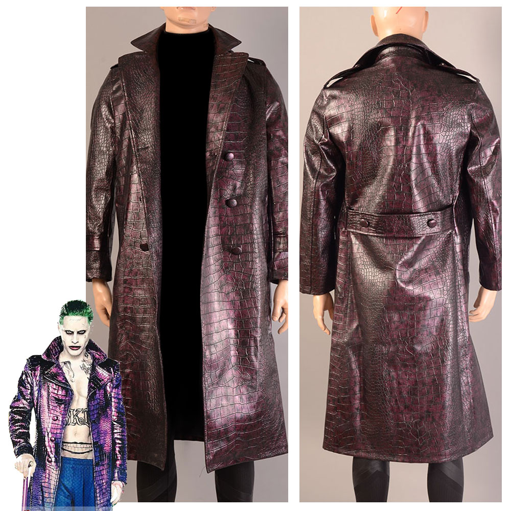 Batman Suicide Squad Jared Leto Joker Coat Cosplay Costume Made Version For Adult Men Women Halloween Party Suit