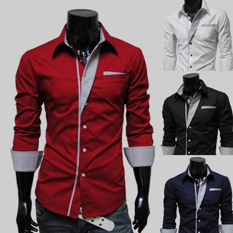 2017 Camisa Masculina Slim Fashion Men Shirt 2016 New Brand Casual
