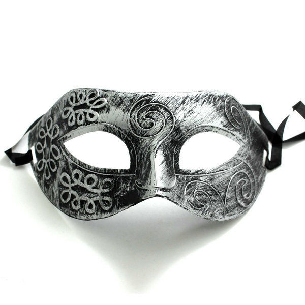 Romans Gladiator Style Silver Men Half Face Mask