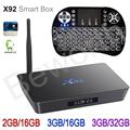 X92 3 ГБ RAM 32 ГБ Amlogic S912 Окта основные Android 6.0 Smart TV Box коди 16.1 2.4/5.8 Г Wi-Fi 4 К 3D H.265 Set Top Box + i8 Подсветка