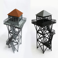 Train railway model scene HO ratio 1:87 industrial style watchtower guard tower two colors optional