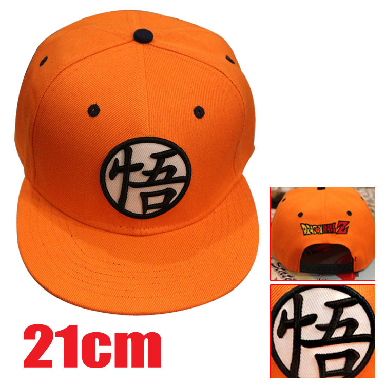 2016 Hot Anime Peripherals Dragon Ball Dragon Ball Z Goku Orange Black Baseball Hat Anime Hat