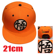 2016 hot anime peripheriegeräte Dragon ball/Dragon ball Z Goku Orange schwarz baseball-mütze anime hut HT109