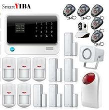 SmartYIBA GSM GPRS SMS Home Alarmes App Integrated In Alarm App with Strobe Siren WIFI Burglar Alarm Camera Surveillance System