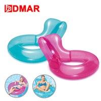DMAR 135 cm Inflatable Pool Float Ghế Vòng Bơi Inflatable Nệm Khổng Lồ Đồ Chơi Hồ Bơi Tắm Nắng Beach Party Đi Xe Nước-trên