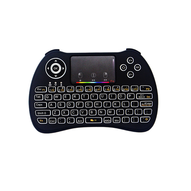 RGB Подсветка мини-клавиатура 2,4 г Беспроводной мини-клавиатура Мышь сенсорная панель дистанционного Управление для HTPC Android ТВ Raspberry Pi 3