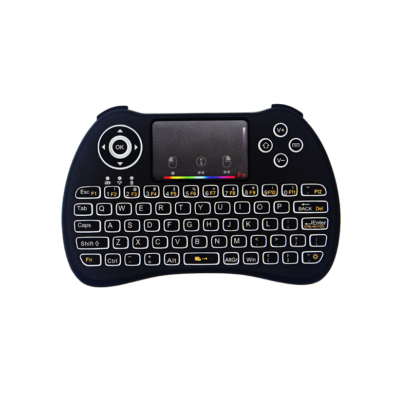 RGB Backlight Mini Keyboard 2.4G Wireless Mini Keyboard Mouse Touchpad Remote Control for HTPC Android TV Raspberry Pi 3 2 4g mini wireless keyboard mouse with touchpad for pc android tv htpc