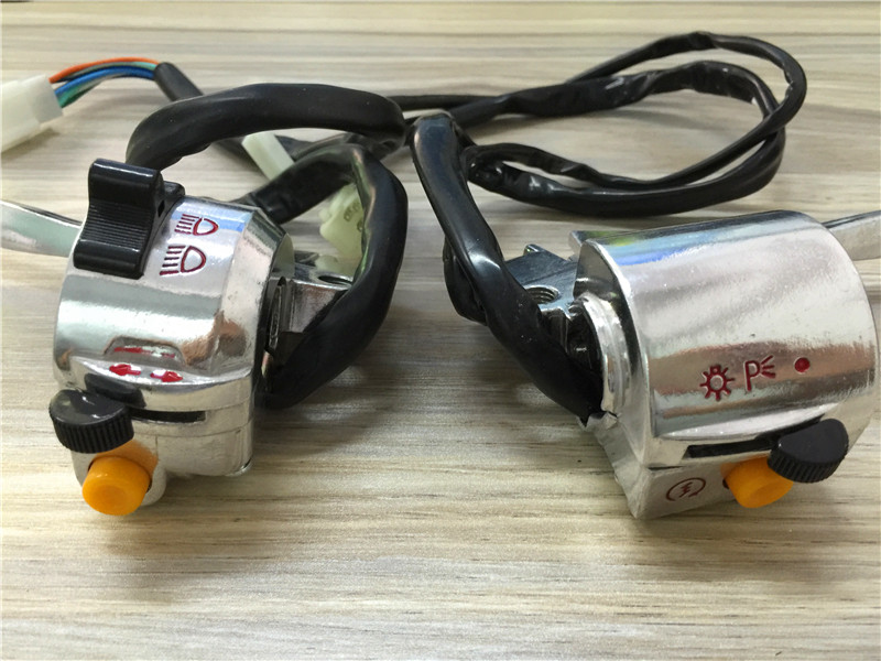 STARPAD For Jialing JH70 silver horn switch assembly left the seat switch assembly electric start Free Shipping in Handlebar from Automobiles Motorcycles