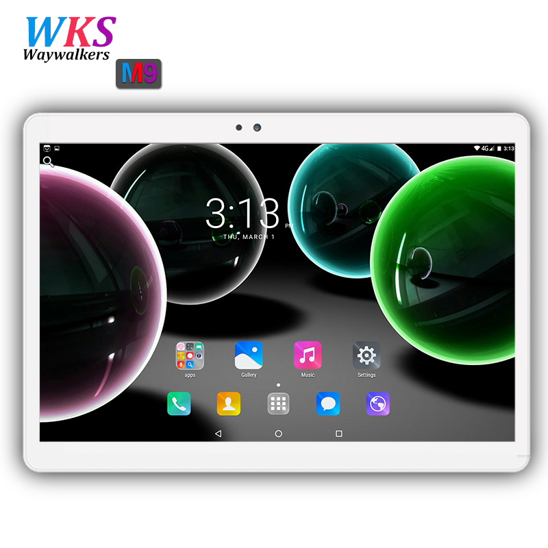 Waywalkers 10 inch 4G phone tablet pc android 7.0 octa core RAM 4GB ROM 64GB  1920*1200 IPS dual sim card wifi Bluetooth tablets 你好 法语4 学生用书 配cd rom光盘