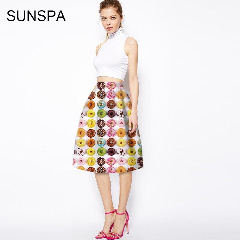 Sunspa 2017 3D аниме юбка новая мода показывает тонкая талия юбка и одной точки юбка женская длинная юбка
