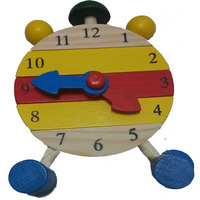 10pcs Lot 2014 Retail Clock Baby Kids Blocks Toy Early Learning Building Child Multifunction Educational Wooden