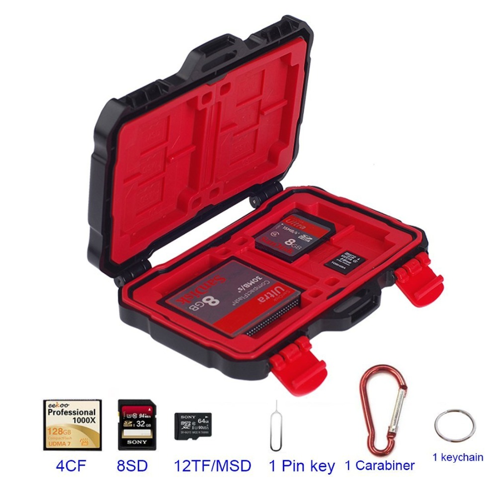 LYNCA 24 Slots Memory Card Storage Case Holder SD SDHC SDXC/ CF/ MSD/ TF Micro SD Card Storage Box Camera Cartridge Waterproof