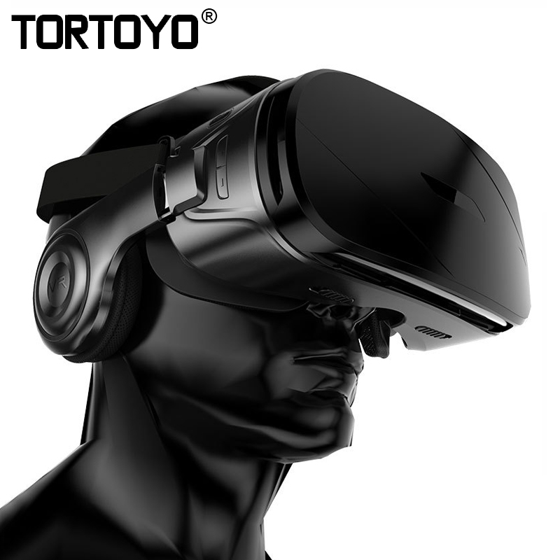 TORTOYO High Quality VR Glasses Virtual Reality 3D Glasses VR With HIFI Headset Headphone for 4.5-6.2 inch Smart Phone
