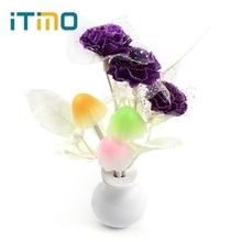 Фотография Light Sensor Romantic Luminaria Mushroom Flower Plant LED Night Light Lamp Lilac US Plug