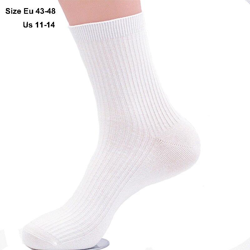 5Pairs/lot Custom-Made Men Socks Plus Large Big Size EUR 45, 46, 47, 48, 49,50 Cotton Socks Business Dress Socks calcetines