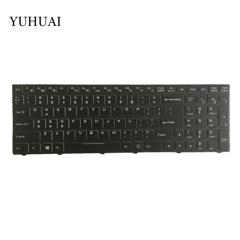 US keyboard for Clevo P670HS-G P671HS-G P670HP6-G English laptop keyboard with backlight laptop keyboard for clevo p157sm p177sm black it italy v132150bk3