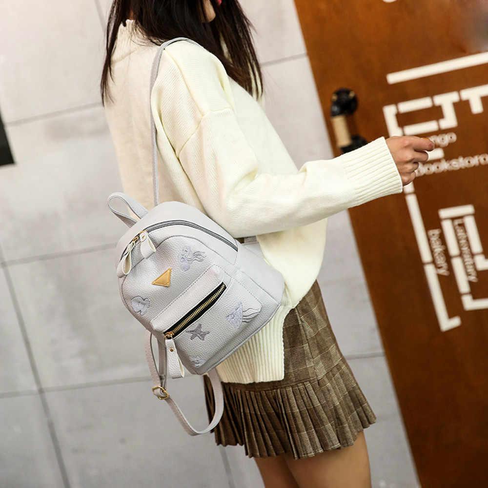 ee97c89751b1 ... Aelicy Women Backpack Small Size Black PU Leather Mini Backpacks for  Teenage Girls Female Back Pack ...
