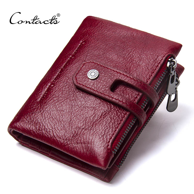 CONTACT'S 2019 New Arrival Genuine Leather Men's Wallet For Men Small Zipper Organizer Wallets Cash Carteira For Man Coin Purses 4