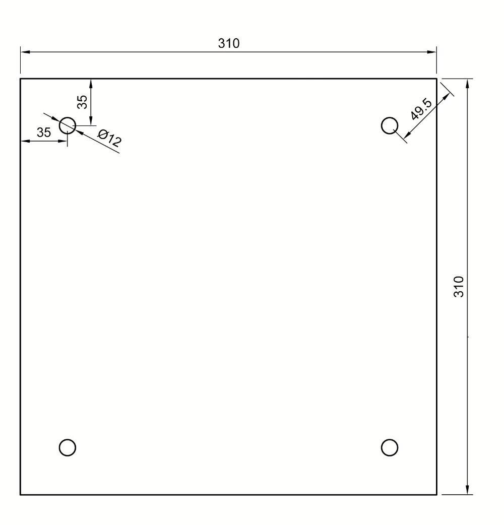 110 220v aquecedor de silicone 310x310mm para 04