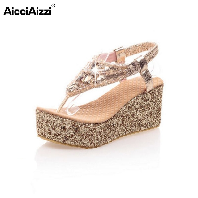 77a06e0048c7 size 31-47 women bohemia girl party spring wedge high heel sandal sexy  fashion slippers lady heeled footwear heels shoes P13671