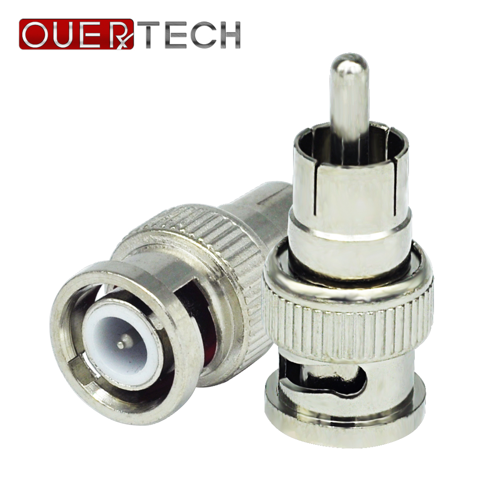 OUERTECH 10pcs BNC Male To RCA Male Coax Connector Adapter Cable Coupler For CCTV Camera