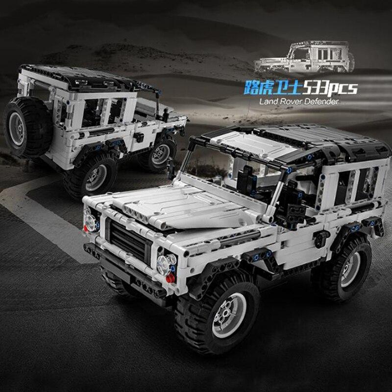 553 pièces RC voiture modèle SUV bricolage bloc de Construction Technic série défenseur voiture briques Construction jouets pour enfants