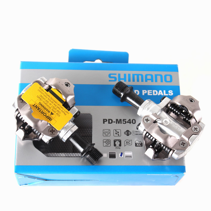 SHIMANO PD M540 Clipless SPD Pedals MTB Bicycle Part Black & Silver shimano pd m540 m540 mtb spd pedals mtb bike bicycle cycling self locking pedal clipless spd sm sh51 cleats