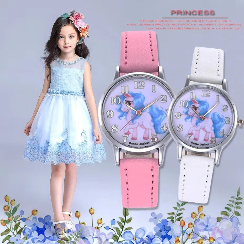 Hot Style Children Cartoon Watch Cute Boy Girl Pointer Unicorn Watch