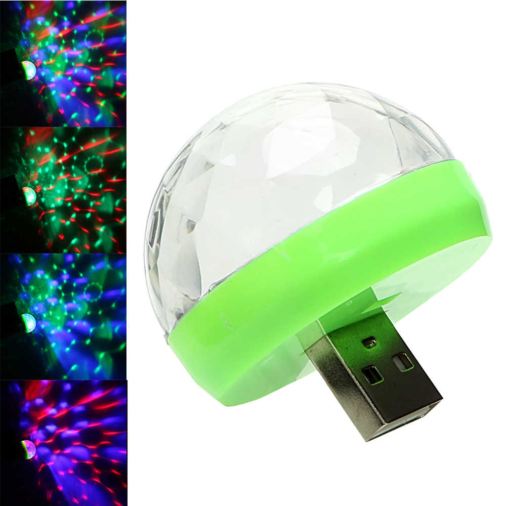 Auto Della Discoteca del DJ Della Luce Della Sfera Luci D'atmosfera A LED Lampada Decorativa con Prese USB Mini LED Luce Della Fase di RGB Colorato Auto lampada piede