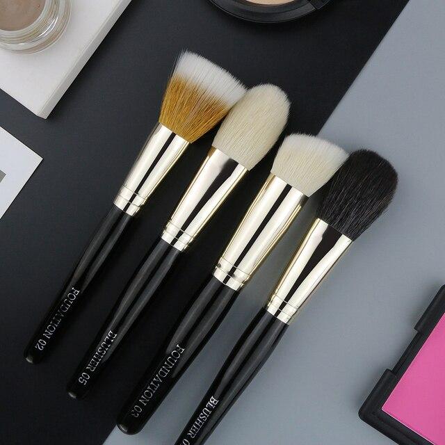 BEILI pinceles de maquillaje colorete Definer punteado contorno Fundación 1 unidades de pelo de cabra de fibra de lana
