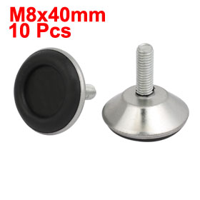 Uxcell Hot Sale 10pcs M8x40mm Thread Adjustable Screw On Furniture Glide Leveling Foot P ...