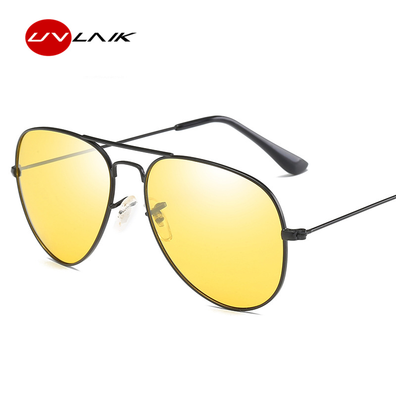 UVLAIK Nachtsicht Chameleon Sonnenbrillen Männer Polarisierten Driving Sonnenbrille Luftfahrt Photochrome Gläser Fahrer Schutzbrille