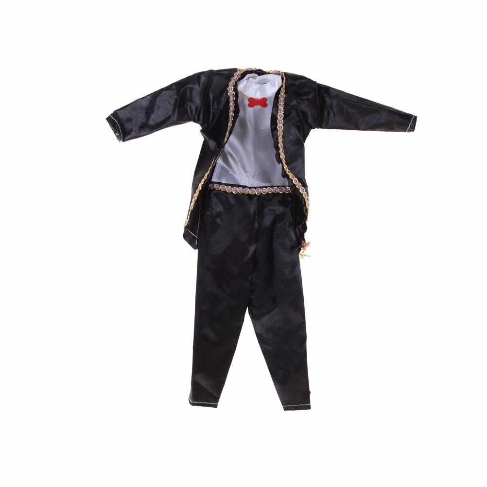 """Вечерние качество партии смокинг одежда брюки для девочек наряд нового 11 """"парень Кэн кукла Дети подарок на день рождения"""