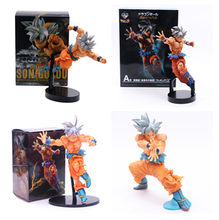 Dragon Ball Z Goku Super Saiyan Cabelo de Prata Comemorativa Limitada Ver. DBZ Goku Action Figure Model Collection Brinquedos 5 Estilos(China)