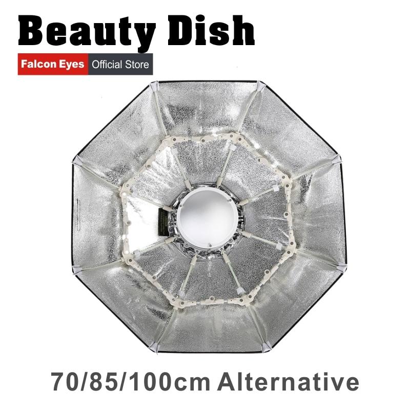 Falcon Eyes Foldable Beauty Dish Softbox 70cm 85cm 100cm Radar Radome With Bowens Mount for Studio