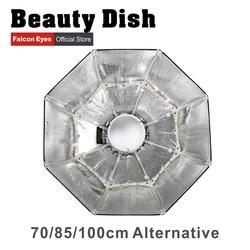 Falcon Eyes Foldable Beauty Dish Softbox 70cm 85cm 100cm Radar Radome With Bowens Mount for Studio Strobe Flash Light