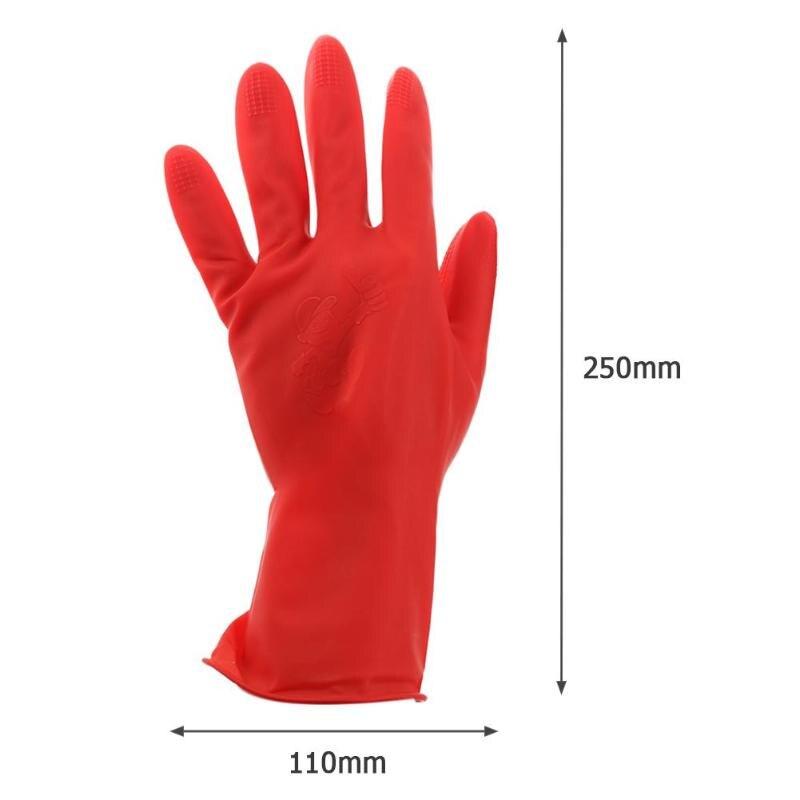 1 пара перчатки из натурального латекса кухонные перчатки для защиты посуды для уборки по дому водонепроницаемые повседневные перчатки с длинным рукавом качественные инструменты - Цвет: SHORT