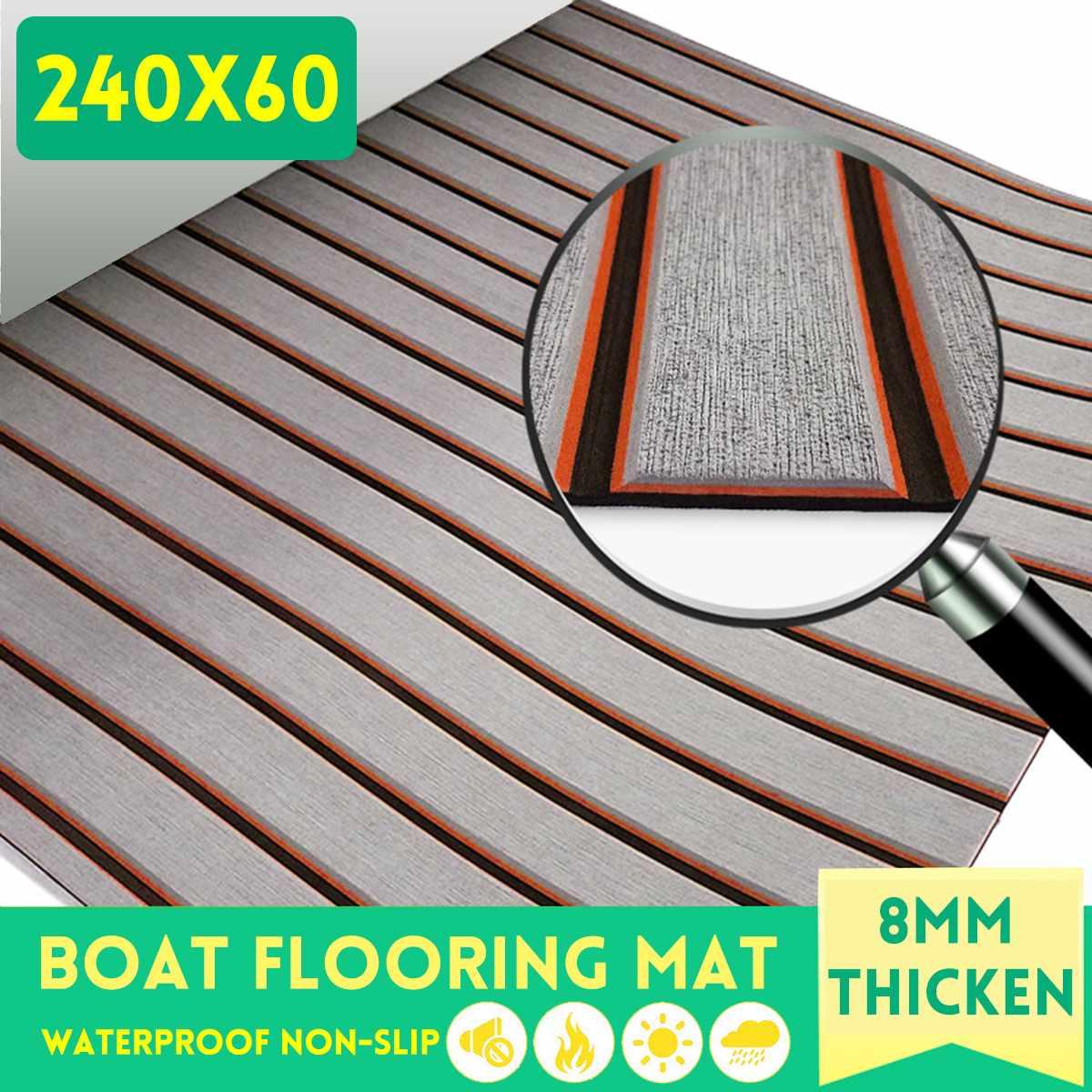 Nouveau tapis anti-dérapant accessoires bateau tapis de sol marin EVA Yacht platelage voiture décoration tapis antidérapant 2400x600x8mm pour caravane RV
