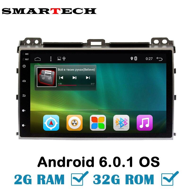 2Din Android Ram 2G Rom 32G Car Multimedia Player Stereo For Prado120 Land Cruiser120 2002 2009