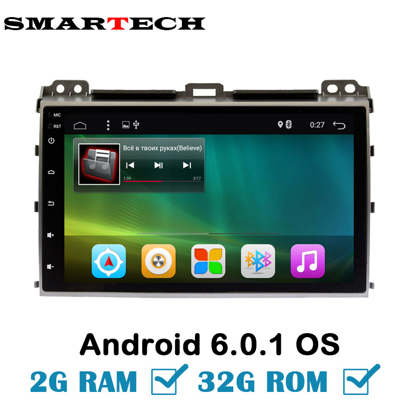 2Din Android Ram 2G Rom 32G Car Multimedia Player Stereo For Prado120 Land Cruiser120 2002 2009