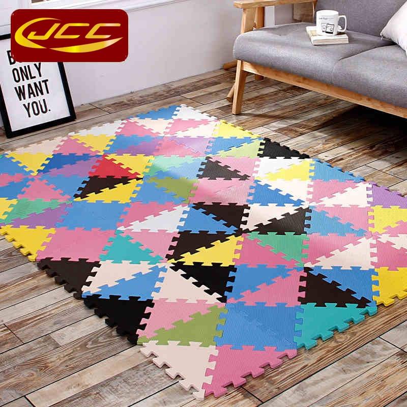 JCC 24-96 pcs / lot! Bayi busa bermain puzzle tikar, Segitiga saling - Mainan balita - Foto 2