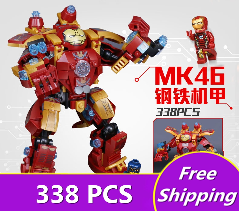 [ZXZ]Iron Man Batman Marvel Super Heroes Avengers Building Blocks Hulk Bricks Toys For Children Compatible With legoing figures