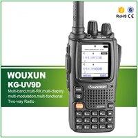 WouXun KG UV9D Multi группа Многофункциональный DTMF двусторонней радиосвязи 7 полос в комплекте Air Band 136 174 мГц/400 512 мГц с автомобиля Зарядное устройст