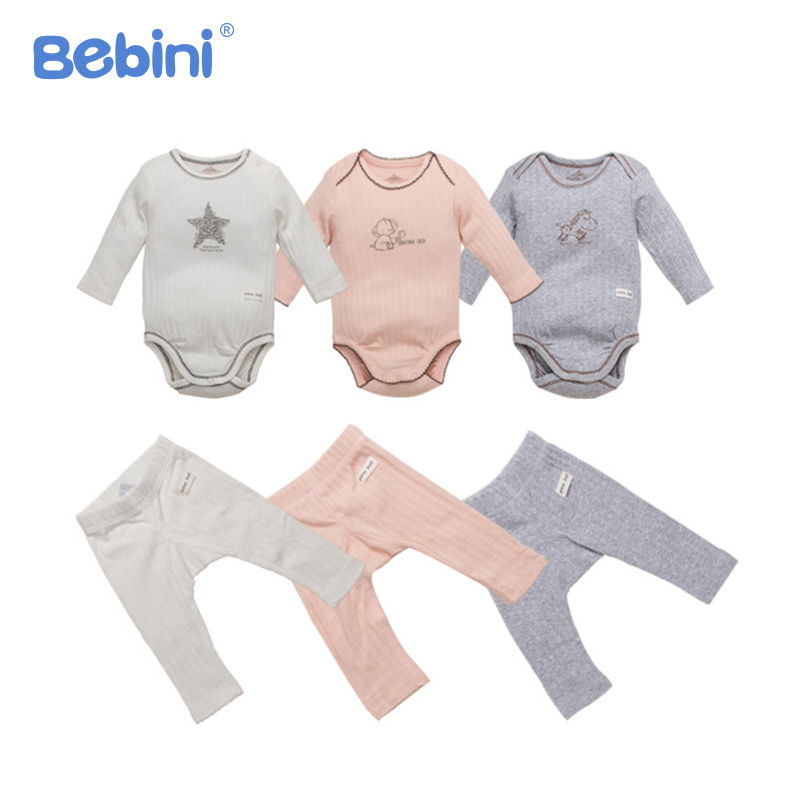 Organic Cotton Infant Baby Clothing Set Soft Infant Baby Romper + Pants Clothes Baby Suit Unisex Newborn Boys Girls Pajamas retail children s clothing set bebes baby clothes baby boy cotton striped romper jean pants 2pcs suit infant denim clothing