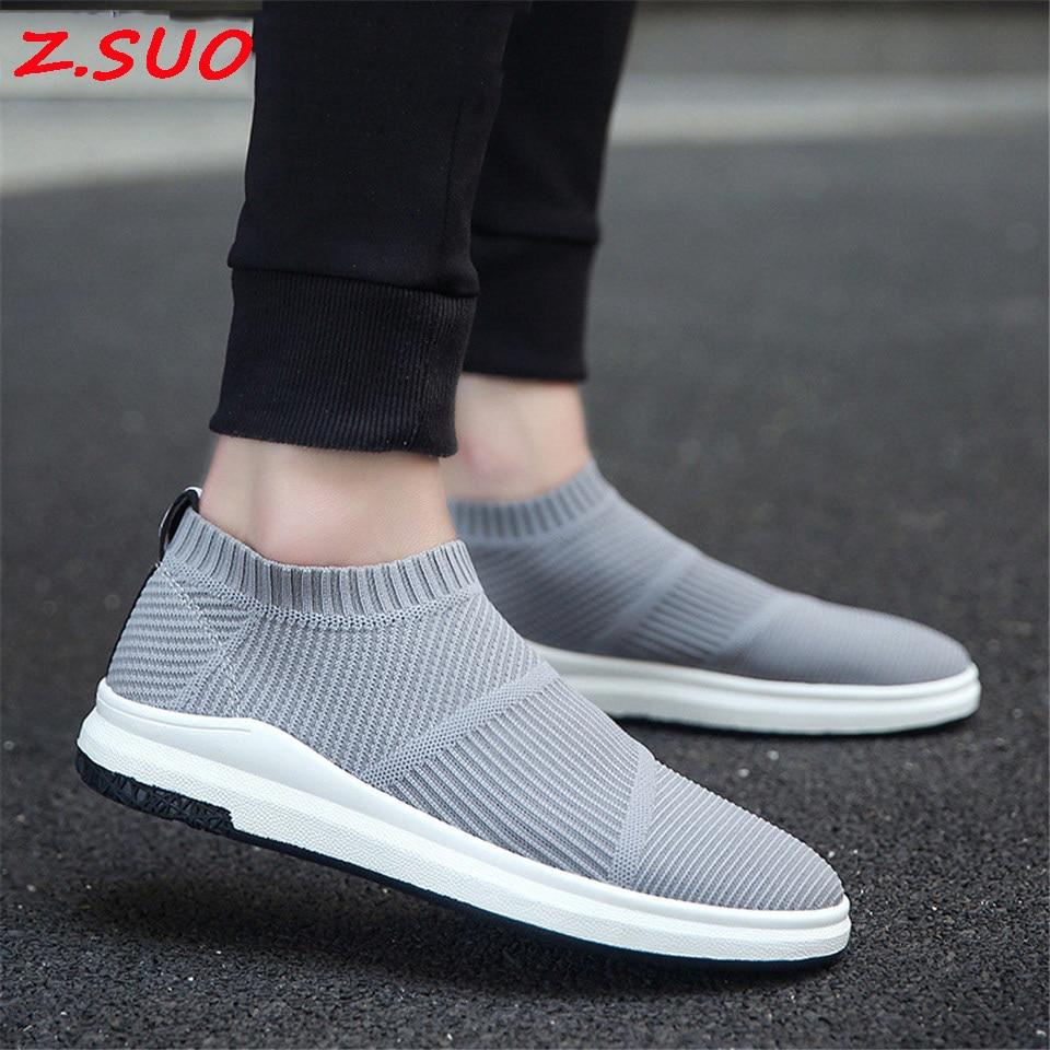 2017 חדש עף גרבי גברים גופר נעלי מגמת סטים של רגליים פנאי נוח נעלי קיץ לנשימה דוושה Men'S נעלי