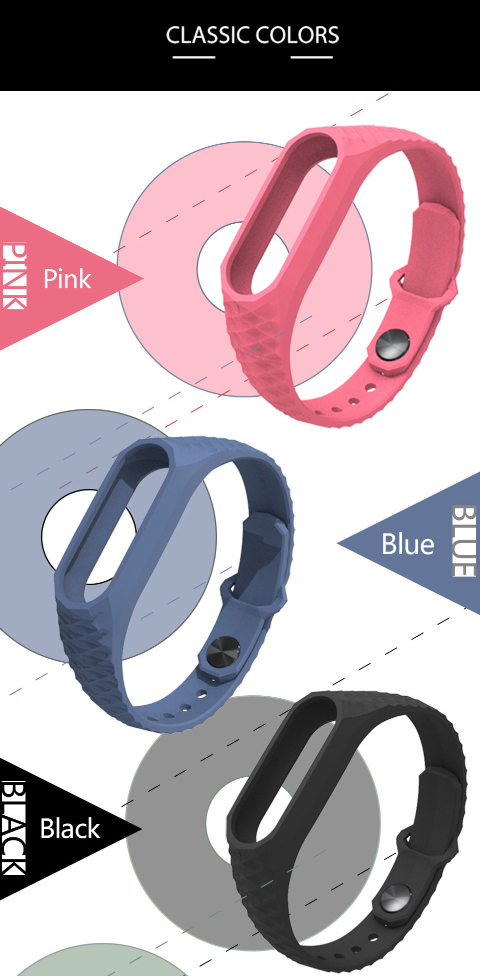 Mijobs Xiaomi Mi Band 2 Strap Silicone Strap Bracelet Replacement Wristband Smart Band Accessories Colorful wrist Strap 9
