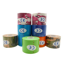 ФОТО ports kinesiology Elbow pads Muscle Sticker 15 Color 5cm x 5m Tape Cotton Elastic Adhesive Muscle Bandage Care F