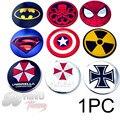 1PC 56mm Superman Umbrella Corporation Auto Wheel Center Badge 60mm Batman Cross For Palio Onix KA Strada Sandero Uno