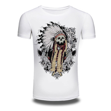 DY-197 New Shirts O-Neck Printed Indian Shirt Tops Men Cotton Hiphop White Fashion T Shirt Size M-XXXL